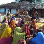 Encontro com ativistas do Ekta Parisha em Gwalior, India, 2010. Acervo Marcelo Rosa