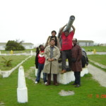 Militantes do MST e do LPM, Robben Island, Africa do Sul 2005. Foto: Marcelo Rosa.