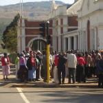 Manifestação na Corte de Greytown, Africa do Sul, 2005.